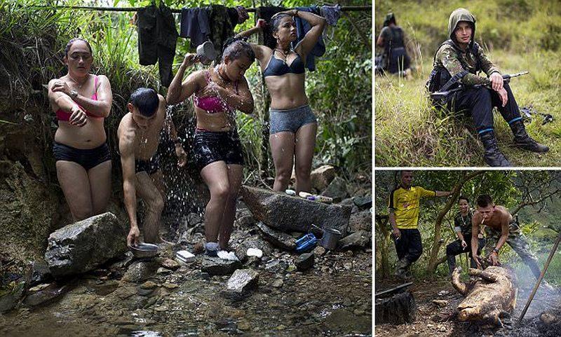 Быт повстанческого отряда в джунглях Колумбии
