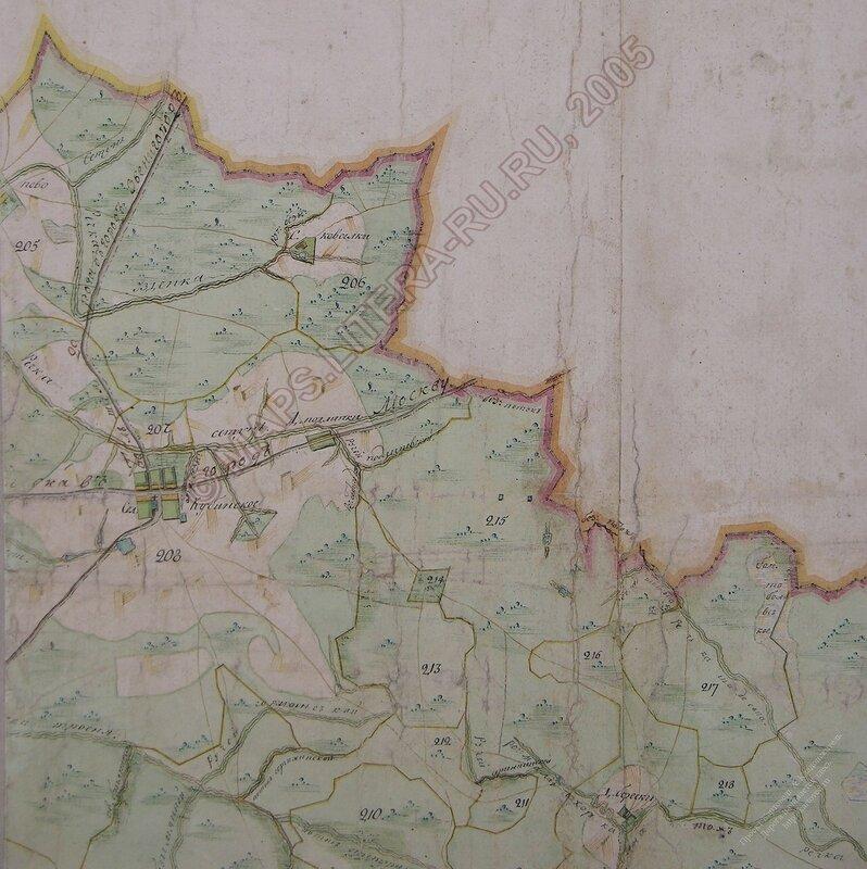 Кубинка на карте межевания 1797 года