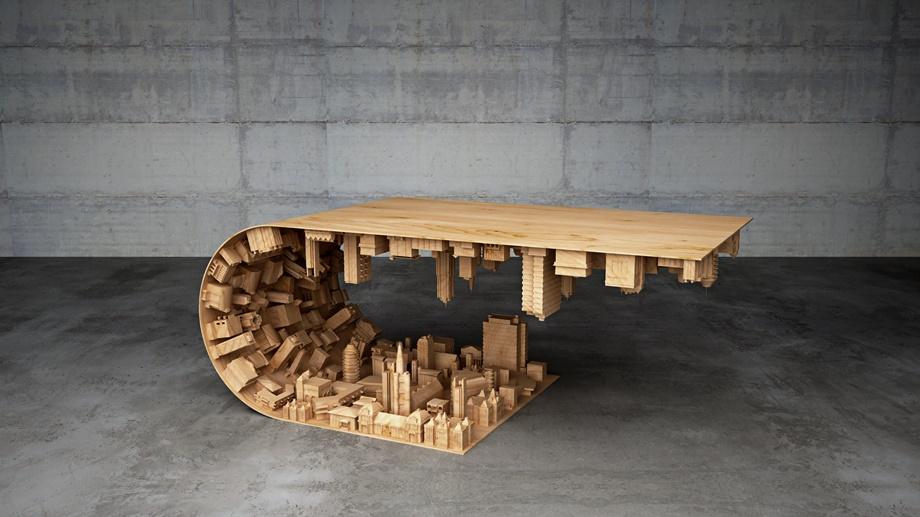 Кофейный столик волна от Mousarris