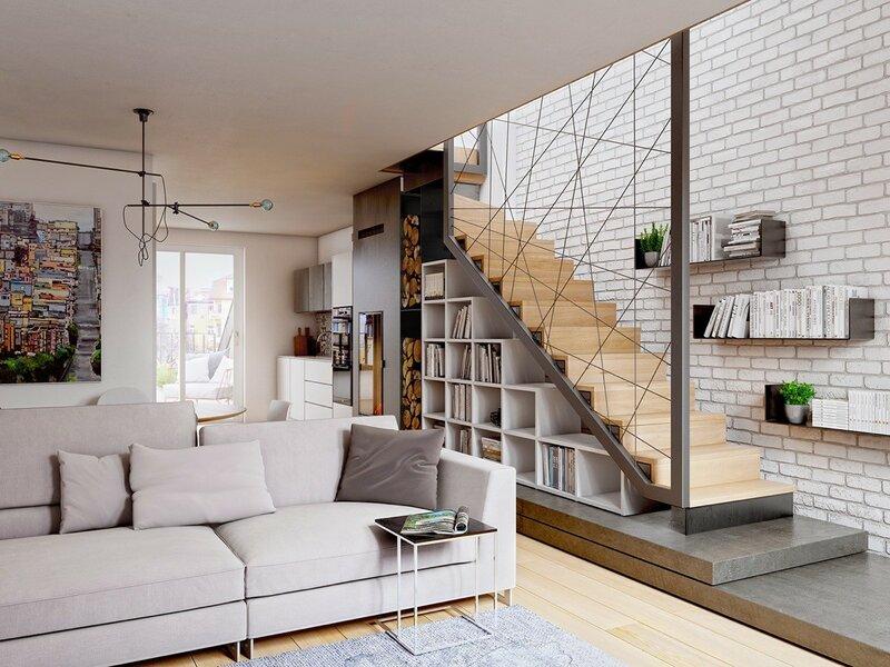 Лестница для дома на второй этаж дизайн фото 12