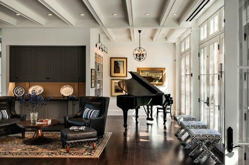Пианино и рояль в дизайне интерьера фото 9