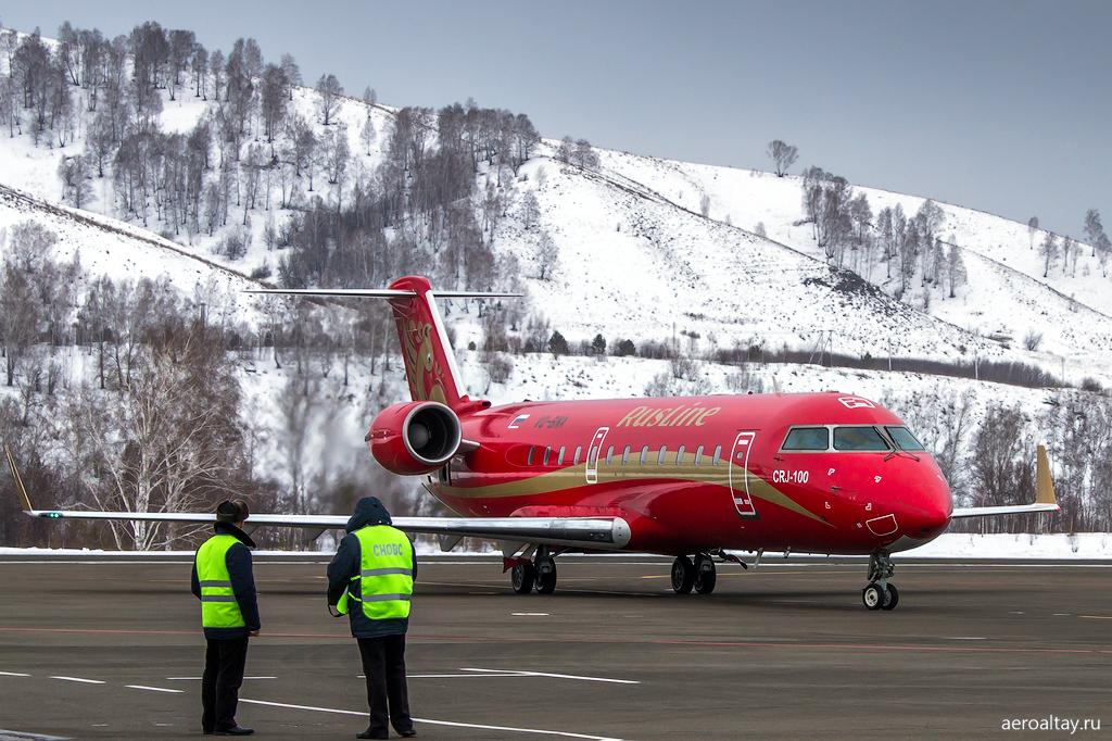 Открытие рейса Тюмень-Горно-Алтайск авиакомпании Руслайн