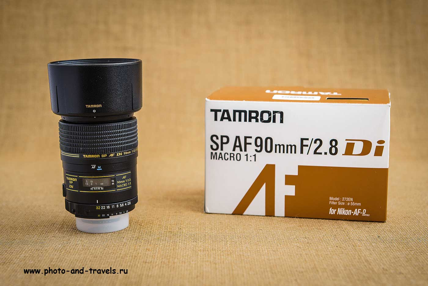 Фото 2. Макрообъектив Tamron SP AF 90mm f/2.8 Di MACRO 1:1 и оригинальная упаковка (24-70, 0.8сек, M, f11, 70mm, ISO 100)