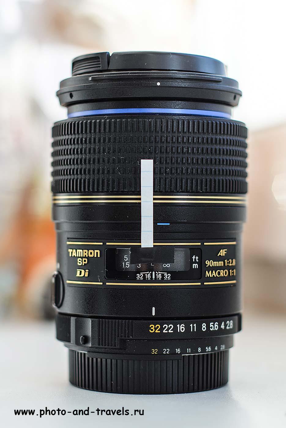 Фото 19. Обозначение точек фокусировки для съемки в режиме стекинга по фокусу. Использование объектива Tamron 90mm f/2.8.