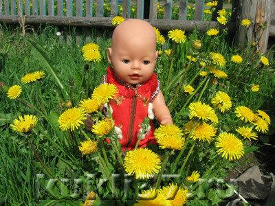 сарафан для куклы с молнией