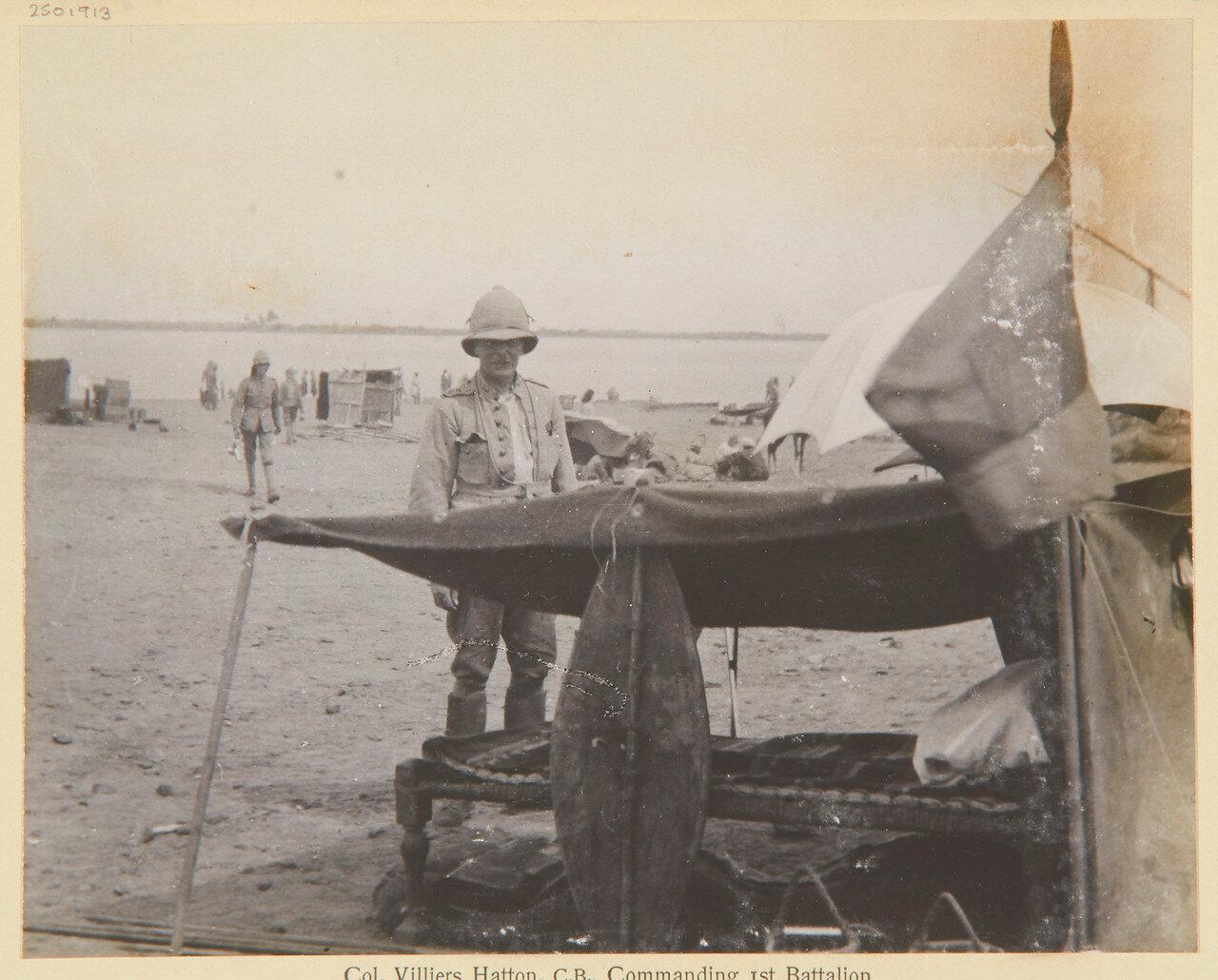 Полковник Вилье Хаттон (1852-1914), командир 1-й батальона гвардейского гренадерского полка
