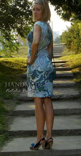 платье, трикотаж набивной
