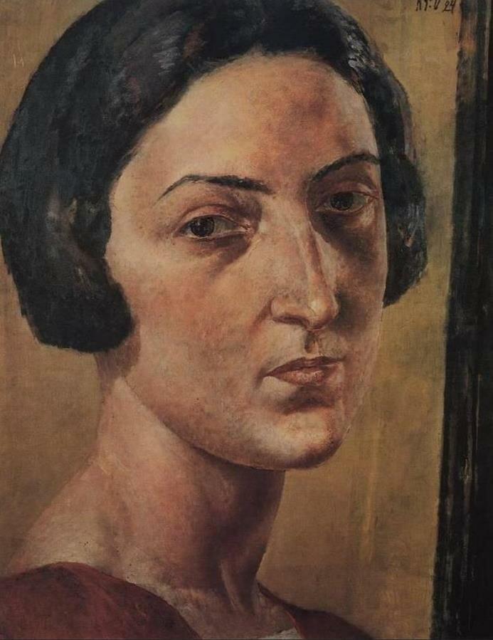 Портрет Л. М. Эренбург, 1924 год. Кузьма Сергеевич Петров-Водкин (1878-1939)