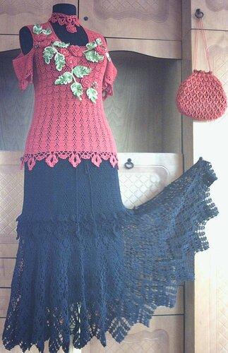 Первоначальный вид (юбка+кофточка)