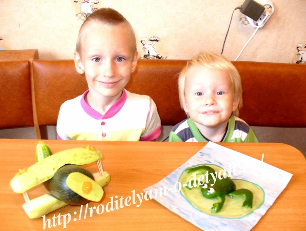 сказочные поделки из овощей и фруктов