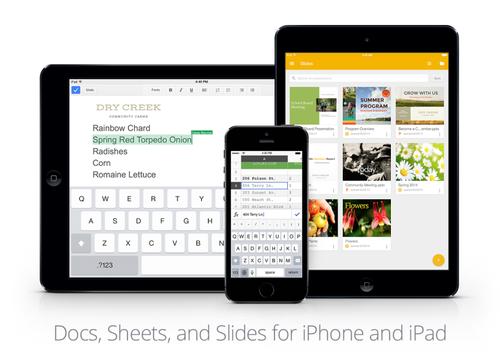 Google внедряет возможности редактирования документов MS Office в приложения для iOS