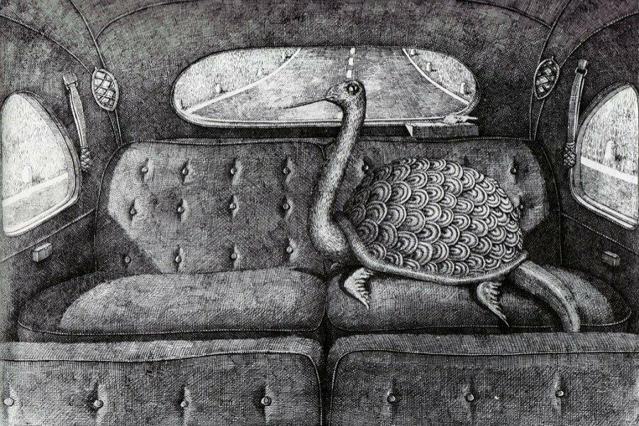 Мастер черно-белой иллюстрации.