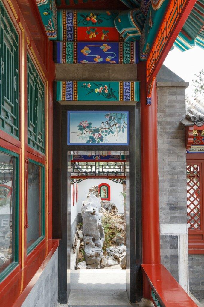 Галерея, сад Пекина, парк-выставка садов