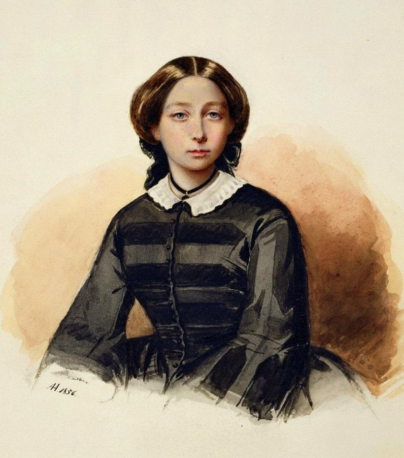 Принцесса Алиса, 1856 г. Портрет работы принцессы Амалии Гогенлоэ-Шилленфюрст.