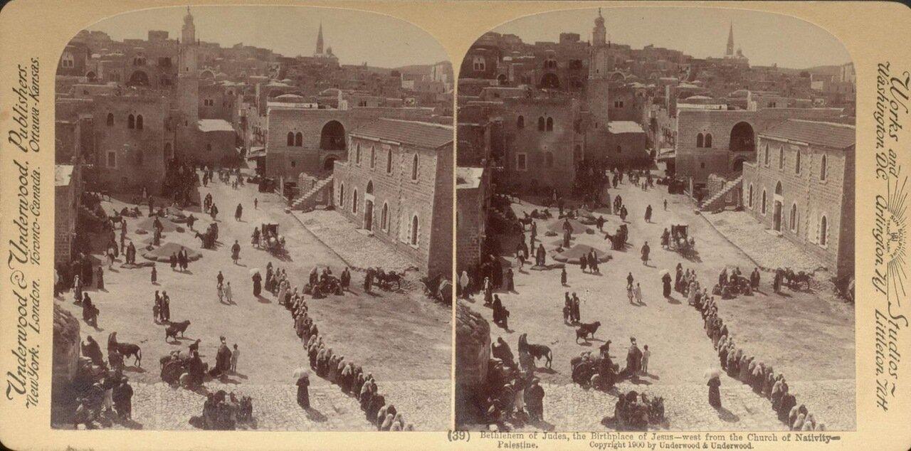 Вифлеем. К западу от церкви Рождества Христова. 1900