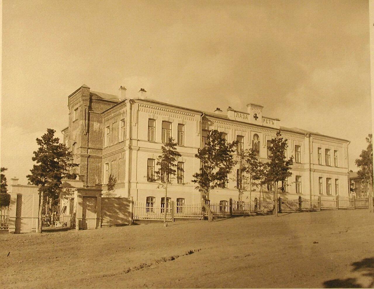02. Фасад здания лазарета.