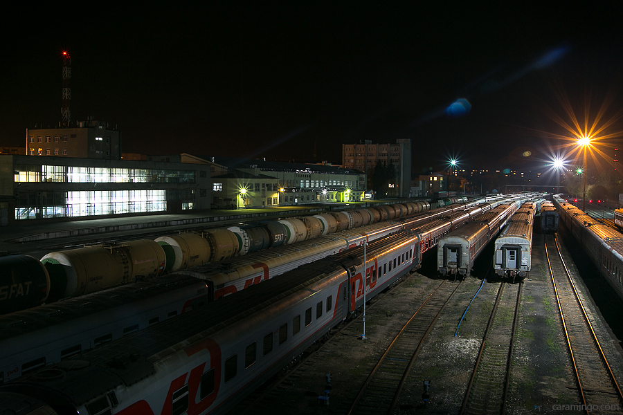 Станция ЖД вокзала города Иваново