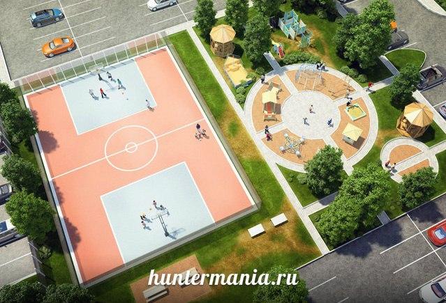 Спортивная площадка во дворе. Как обустроить?