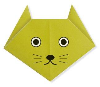 Оригами Голова кошки