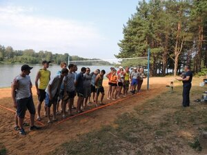 Районный турнир по пляжному волейболу. П. Дубровка, 10 августа 2014 года.