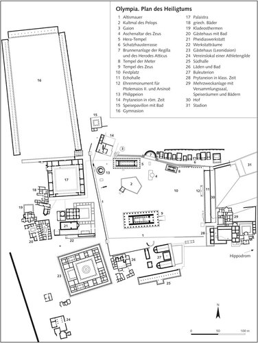 Олимпия. План святилища