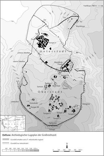 Хаттуса археологический план времени расцвета города