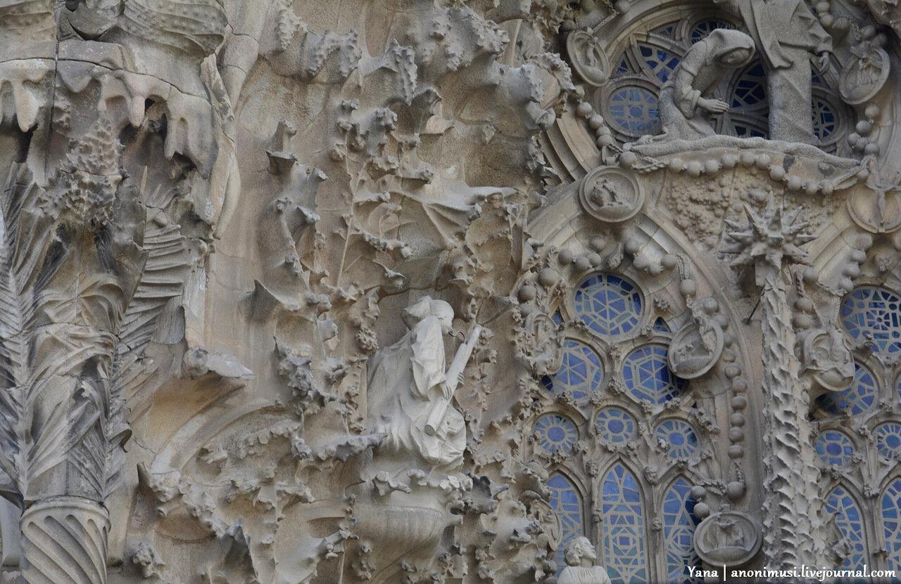 Искупительный храм Святого Семейства или Temple Expiatori de la Sagrada Família в Барселоне. Испания.