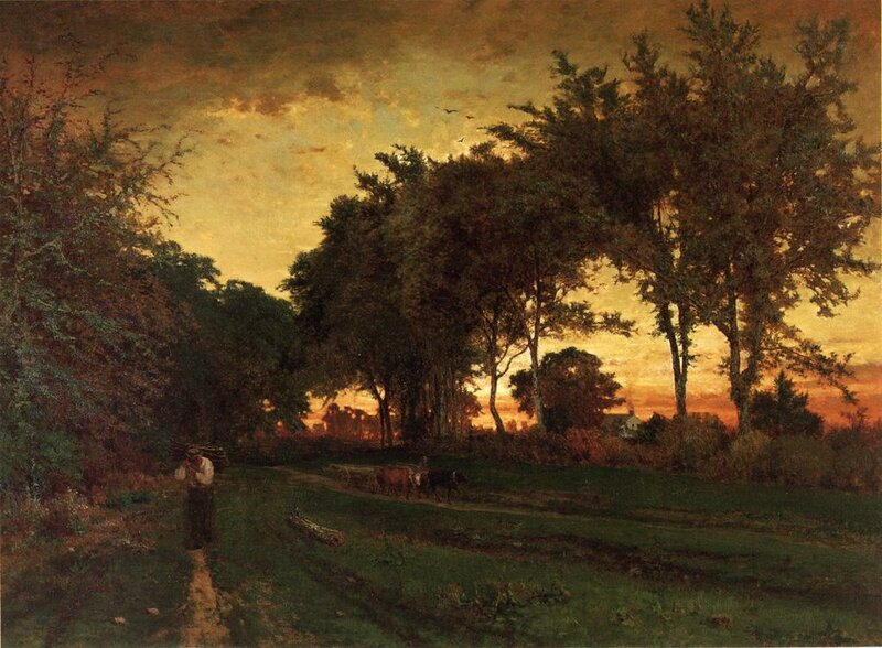 Inness George. Evening Landscape