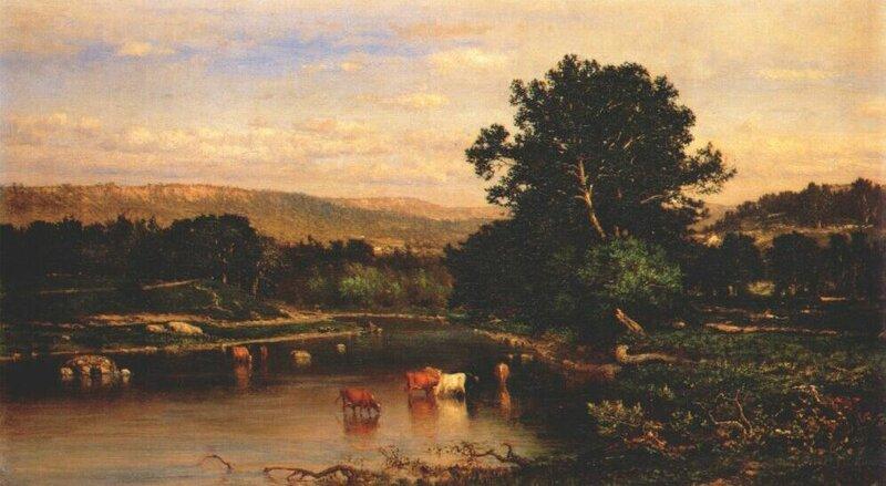 Scene on the hudson, 1861