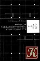 Книга Таблицы для гидравлического расчета водопроводных труб
