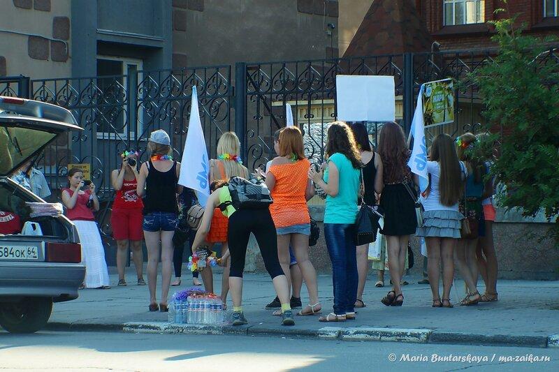 Флешмоб 'Жара', Саратов, проспект Кирова, 30 июля 2014 года