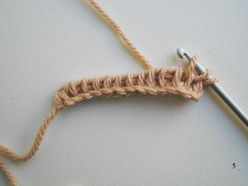 Вяжем тунисским крючком простой и красивый узор