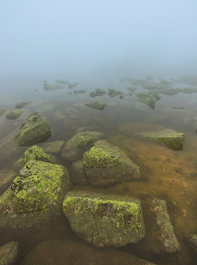 Озеро Потаённое в облаке