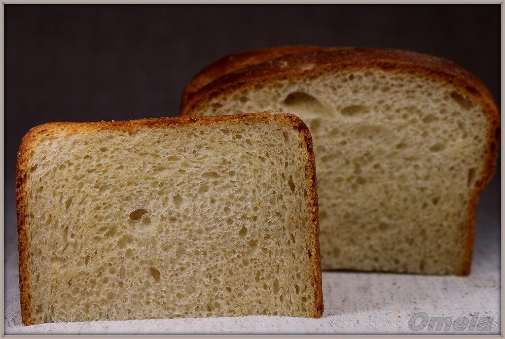 Молочный хлеб из муки высшего сорта на закваске