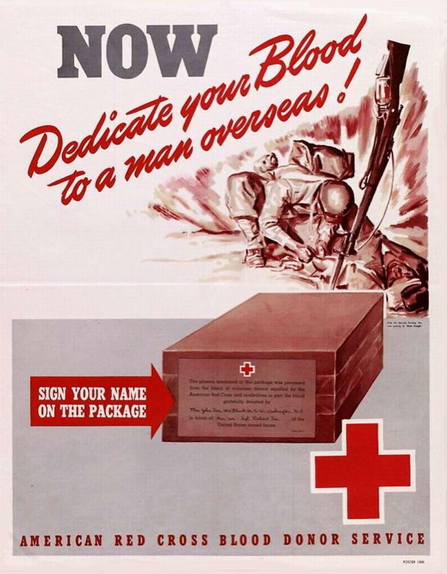 Сдайте свою кровь для солдат, сражающихся на фронте (США)