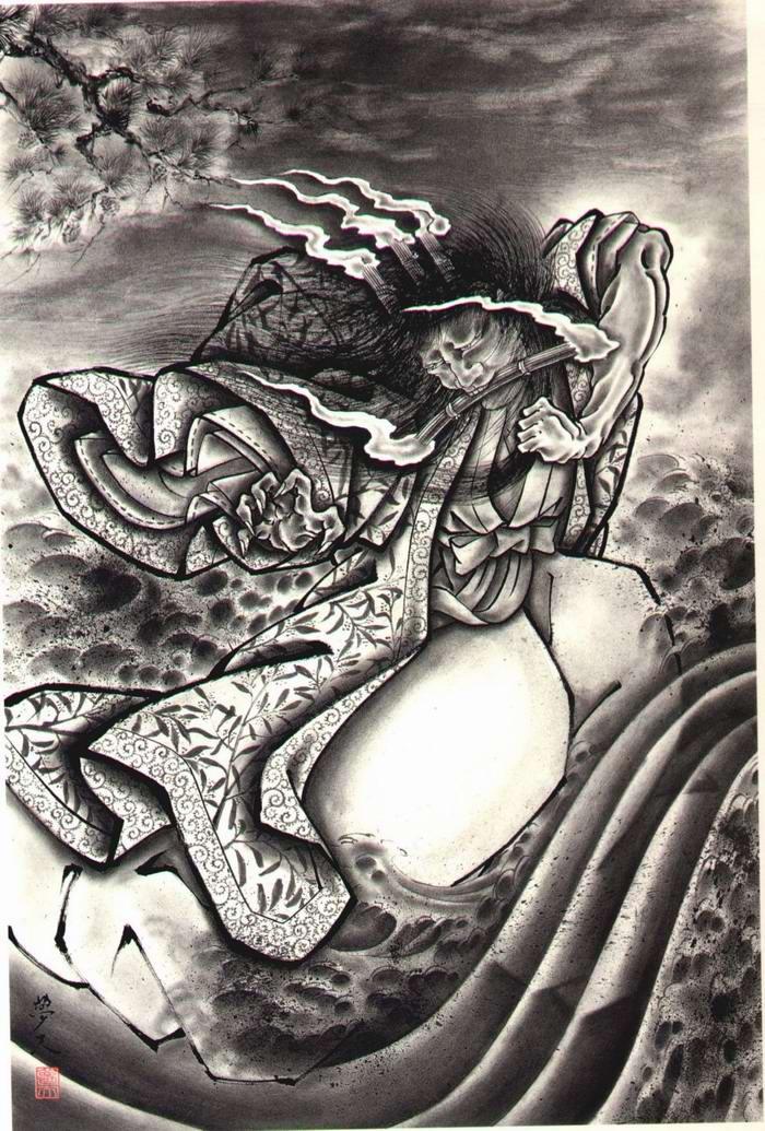 Злобные демоны на эскизах татуировок японского художника Horiyoshi (2)