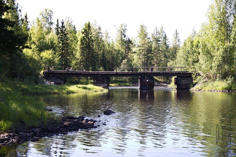 мост через реку Семча, Карелия
