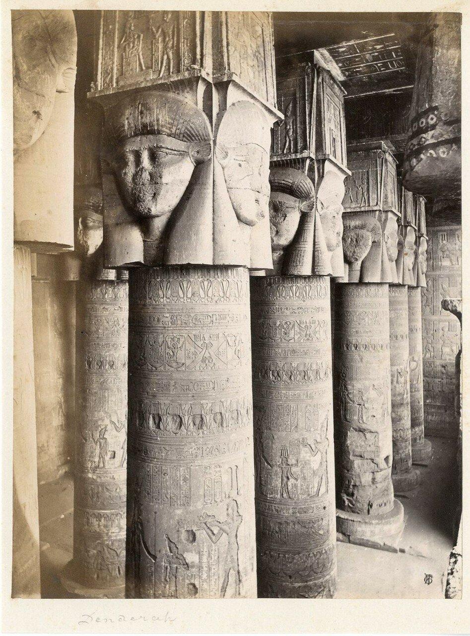 Дендере. Колонны Храма