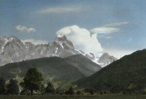 Вид гор в Сванетии