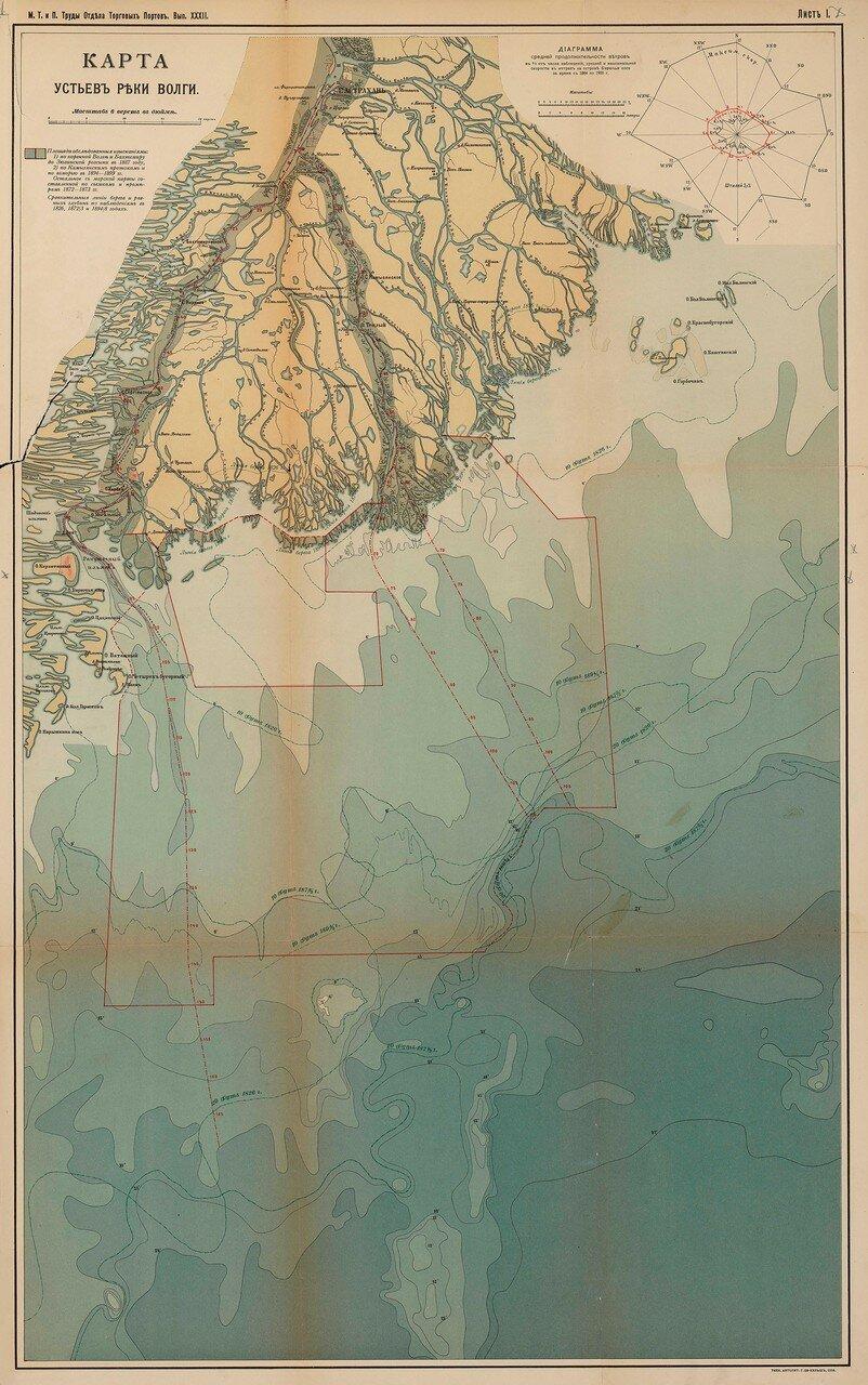 03. Карта устьев реки Волги