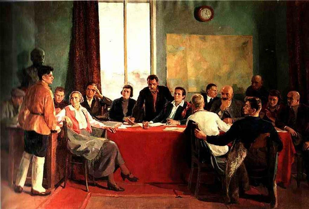 Заседание заводского парткома, 1937, . Лукомский И.А.(1906-1954)
