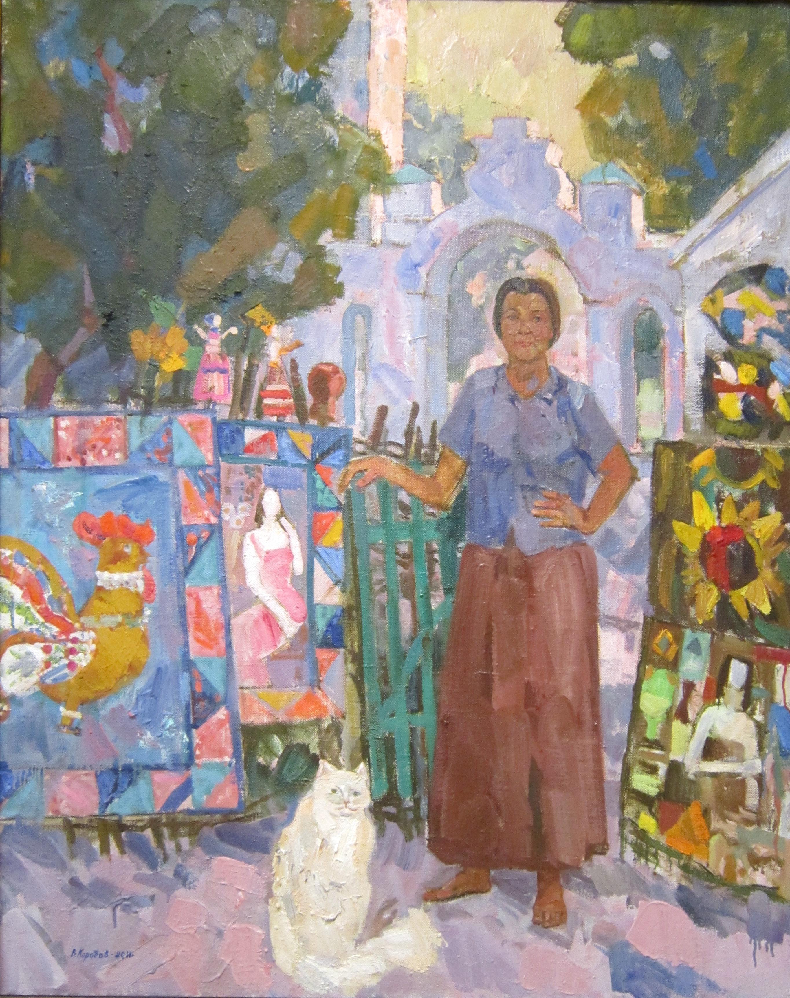 Виталий Фёдорович Коробов (род. в 1936 году). Народный мастер Любовь Бычкова. 2011 год.