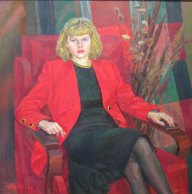 Алексей Михайлович Курманаевский (род. в 1946 году). Портрет дочери. Наташа. 1994 год.