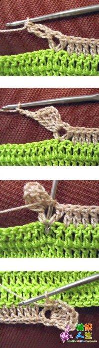 Прихватка крючком с объемными цветами