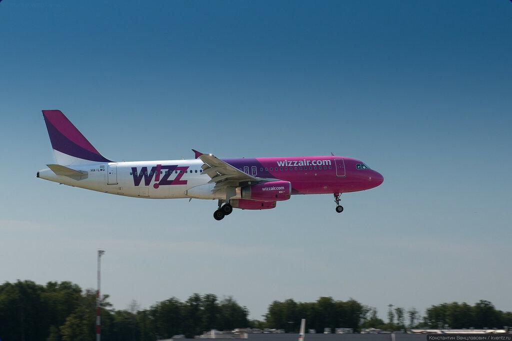 WizzAir в старой ливрее разнообразил трафик