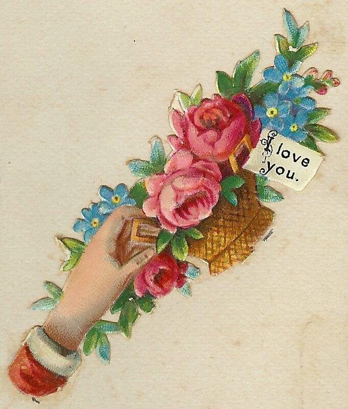Открытки с цветами ретро, днем рождения