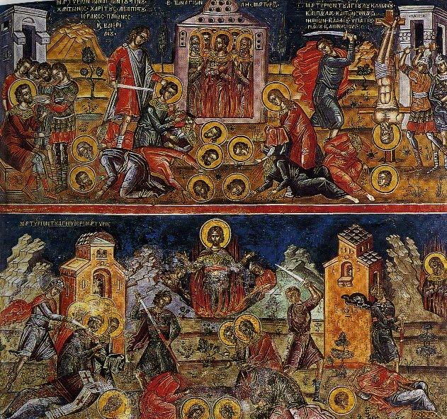 Мучения святых (фреска притвора кафоликона).jpg