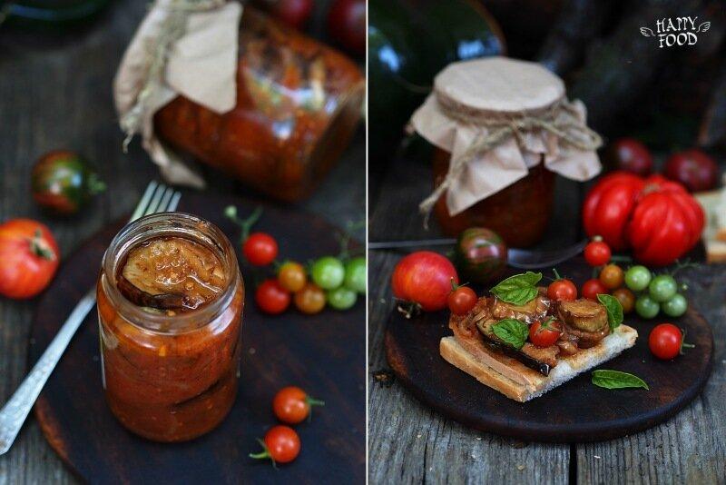 Баклажаны кружками закрытые в томатном соку
