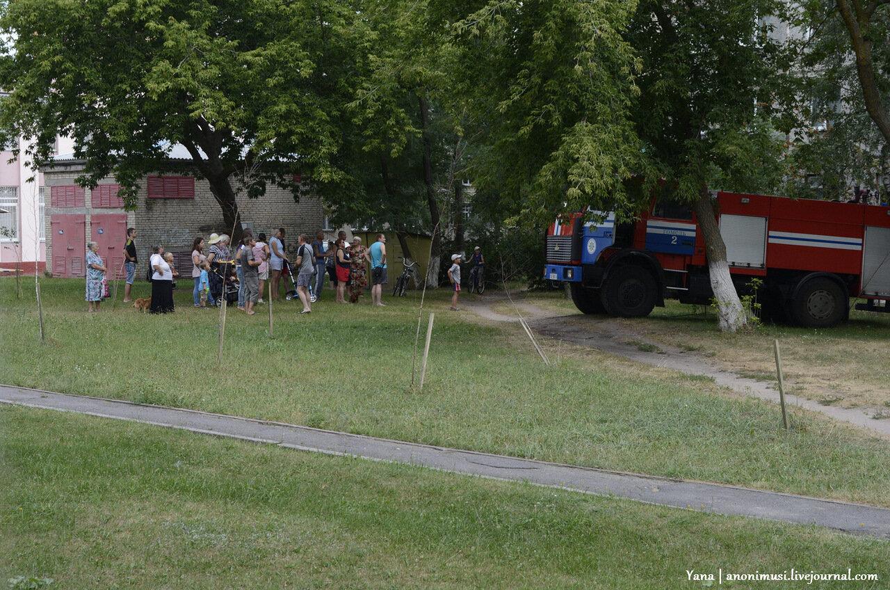 Пожар на пр-те Октября, 83 в Гомеле