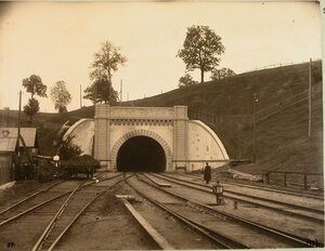 Вид тоннеля вблизи станции. Ковенская губ. Ковно ст.